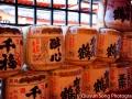 Barrels and barrels of sake