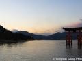 The beautiful floating shrine at dusk
