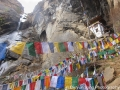 Prayer flags at the famous Tiger's Nest Monastery