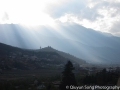 Light shining down on the Paro valley