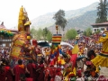 The Guru at Paro Tsechu Festival, in screaming colors