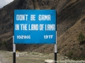 Funny sign in Bhutan #1: Don't be gama in the land of lama