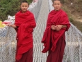 Friendly monks we met while cycling around Punakha
