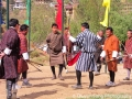 Traditional victory song and dance of the Bhutanese archers