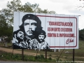 Socialist billboard along the highway in Cuba