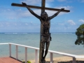Cross at the seaside chapel