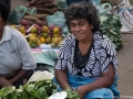 Fijian woman at the local produce market in Fiji