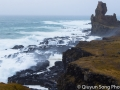 The rugged, windswept coastline of the exposed Snæfellsnes peninsula