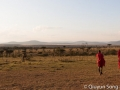 Maasai warriors on our morning safari walk