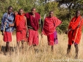 Maasai warriors who escorted us during our morning safari walk