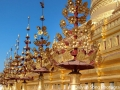 Shining, golden Shwezigon Pagoda in Bagan