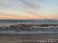 Waves and wind at dusk at Whangapoua