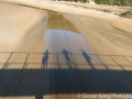 Bridge shadows at Onetahuti at Abel Tasman