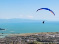 Paragliding on a sunny Christmas Eve day over Nelson
