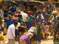 A busy local bazaar, exploding in colors! Love how Rwandans dress in traditional colorful fabrics