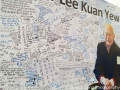 A wall of tributes to Lee Kuan Yew